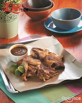 Grilled Spring Chicken Recipe 煎烤童子鸡食谱
