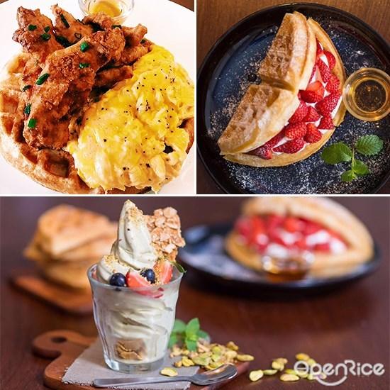 Soft Launch Café, Strawberry waffle, chicken waffle, sri petaling, kl