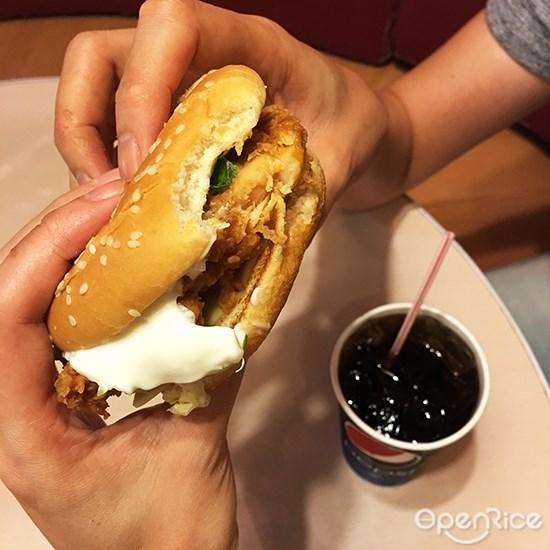Pepsi, burger, food with soft drinks, kl, pj