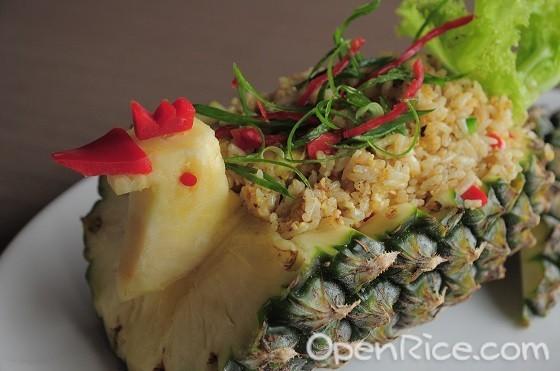 Krathong Thai Restaurant, Thai cuisine, Sri Petaling, Cheras, Glass City, Pineapple Fried Rice, Khao Ob Sapparod