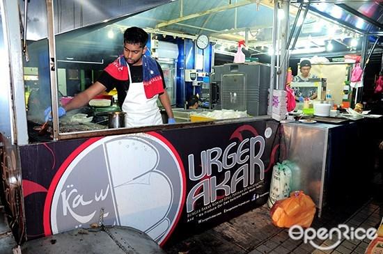 Burger Bakar Kaw Kaw, desa setapak, kl