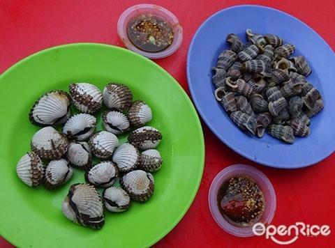 佳必多祖传海鲜小吃, 马六甲,鲜蚶,贝壳类