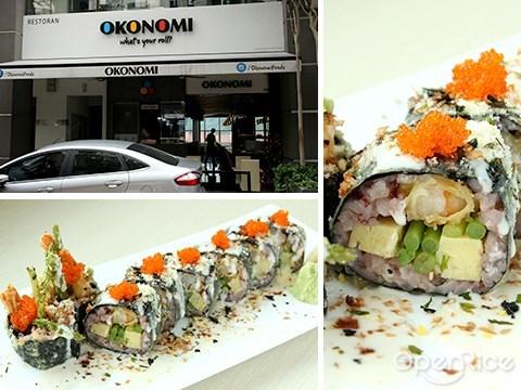 okonomi, sushi roll, maki, japanese, publika