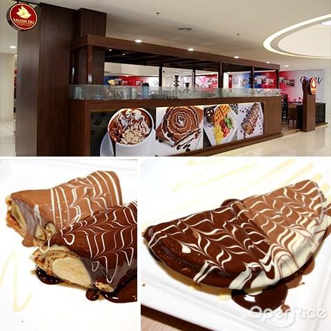 salon du chocolate, chocolate crepe, dessert, quill city mall, jalan sultan ismail, medan tuanku