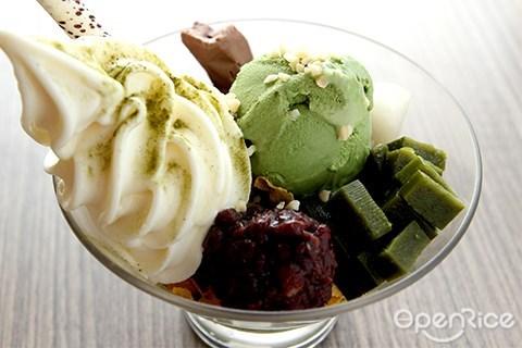 green tea, ice cream, dessert