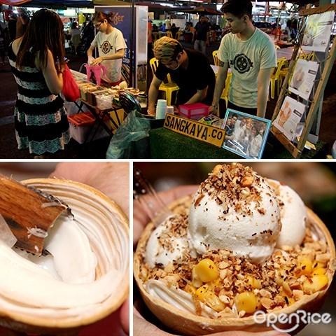 sangkaya, jalan alor, 冰淇淋, 椰子