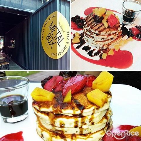 Metal Box, pancakes, PJ, Empire Damansara