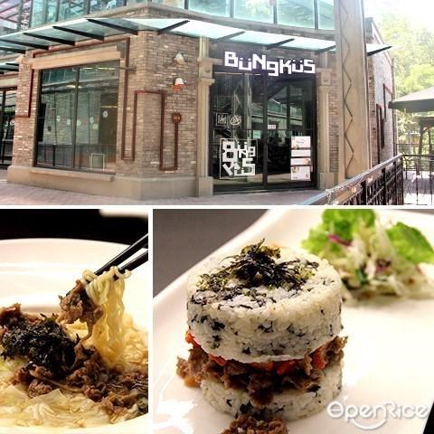 Bungkus cafe, Empire Damansara, Bulgogi, Rice Burger, Korean cafe