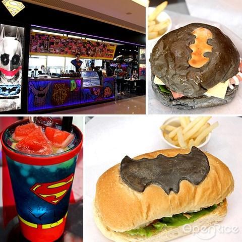 cafe, sunway putra mall, dc comics super heroes