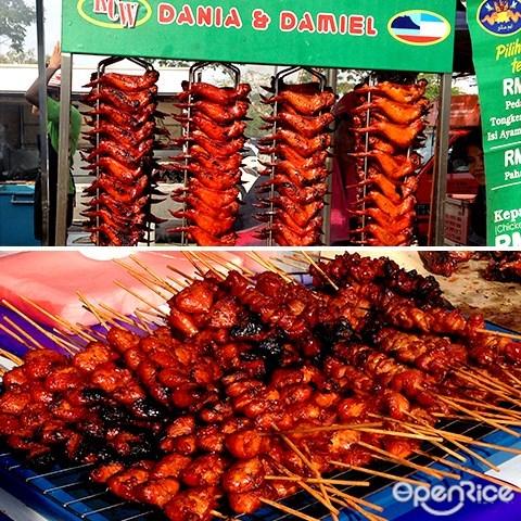 ramadhan bazaar, shah alam, dania & damiel, 烤鸡翅