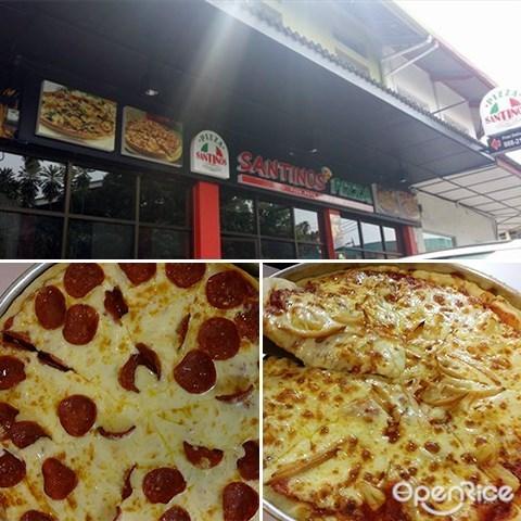 Santino's Pizza, cheese, Sweet, tomato, sabah