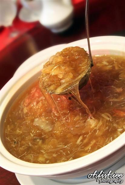 Shark fin soup, love the dried scallops.