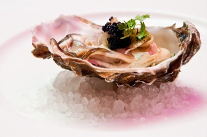 Fresh Canadian oyster, served with pernod pickled fennel and moluga caviar