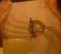 menu & green tea.. =)