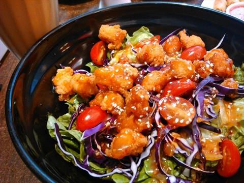 Crispy chicken salad at Secret Recipe, Kangar Perlis